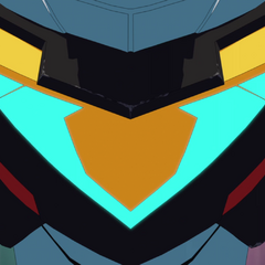Black Lion (Voltron's) chest detail.