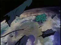Screen-satellite destroyed