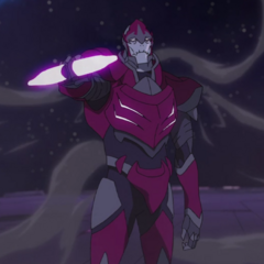 Zarkon using the Black Paladin's Bayard, Season 1; Episode 11. This is when reveals the true nature of his desire for Voltron.
