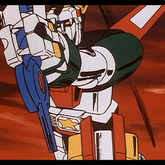 Narrowly avoiding the severance of his left arm, Voltron prepares to lay down the final blow.