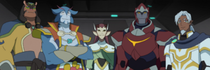The First Paladins of Voltron (Gyrgan, Blaytz, Trigel, Zarkon, Alfor)