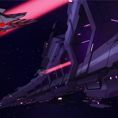Galra fighters launching from one of the rings.