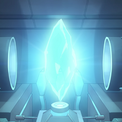A Balmeran crystal within the Altean pod Sam used to return to Earth.