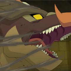 Dakin resurrects into a Coranic Dragon.