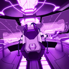 Inside Black's cockpit as seen in the intro.