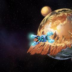 Olkarion as it appears from orbit.