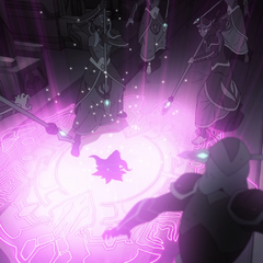 The Sages try to stop Haggar from continuing into the heart of the temple.