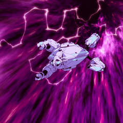 Flying through the wormhole after Haggar's magic corrupts it.