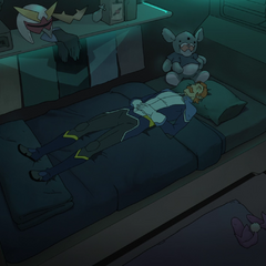 Coran's room shows the most personality yet.