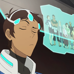 Lance thinks of his family during psychic training.