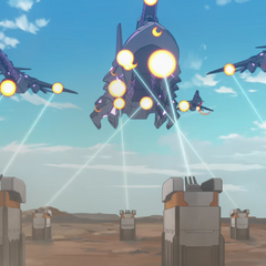Garrison defense turrets against the Galra.