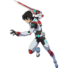 Keith in his Paladin Armor, wielding his sword