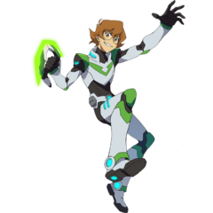 Pidge in her Paladin Armor, wielding her katar-grappler