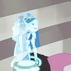 Allura only has time to grab a holo of her parents before sacrificing the Castle of Lions.