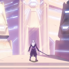 Lotor outside after failing the White Lion's trial.