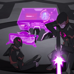 Galra scouts trying to break into the Blue Lion on Earth.