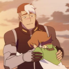 Hugging Shiro.