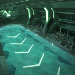 Submarine base.