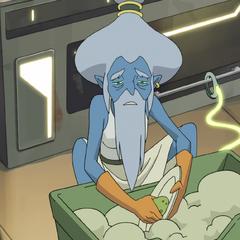 So that's where Grandma Smurf got off to!