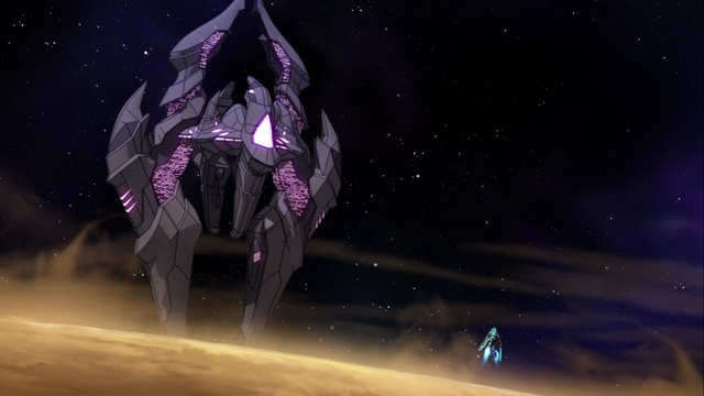 File:S2E05.242. Zarkon's ship vs Voltron.png