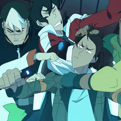 Pidge freaking out from Lance's first run in the Blue Lion.