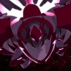 Zarkon's Mechsuit Armor charges to face Voltron.