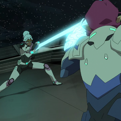 If Allura can kick her rear this quickly, the Galra of the standard universe would have a field day.