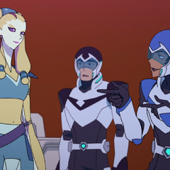 Lance flirting with Nyma.