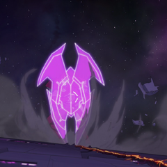 Zarkon shields against Red Lion's attack.