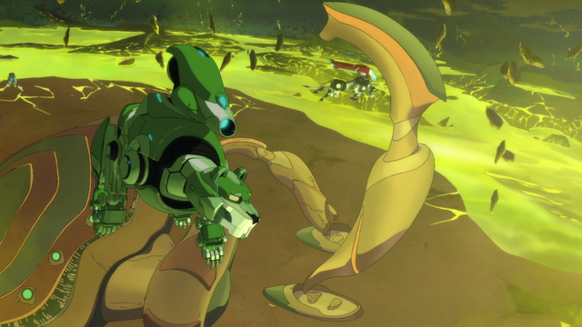 File:S2E06.125. Green Lion turning around above Ark.png
