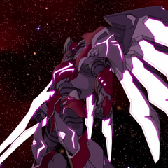 Zarkon's Mechsuit Armor stands with its blade at the ready.