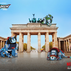 Promotional art in Germany with the <a href=