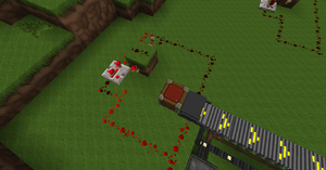 Continuous redstone signal supply