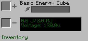 Basic Energy Cube GUI