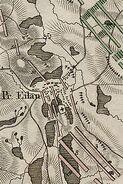 Plan von der Schlacht von Eylau