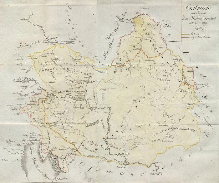 KarteOestreichWienerFrieden1809