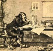 Napoleon mit Buch