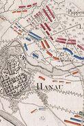 Plan der Schlacht von Hanau