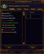 Refining interface item opened plain