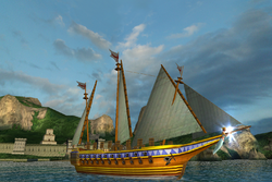Caraoelle Sailboat with Cannon