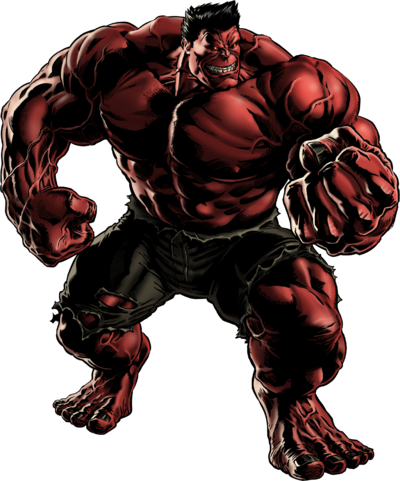 Red Hulk Portrait Art