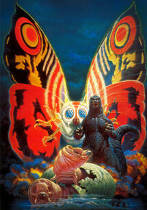 Godzilla vs. Mothra Poster Textless