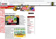 Kirby's Dream Land 3 website-A threatening cloud of Dark Matter is luring the inhabitants of PopStar to evil