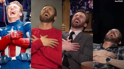 Laughs in Chris Evans