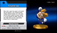 Super Smash Bros. for Wii U-Knuckle Joe's trophy