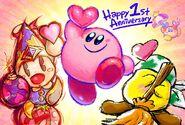 Kirby Star Allies 1° anniversary-Kirby twitter