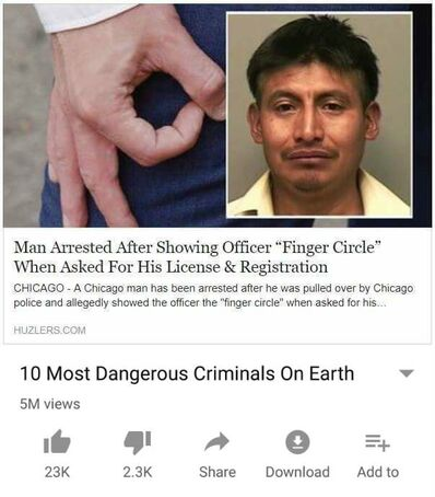 Finger circle criminal meme
