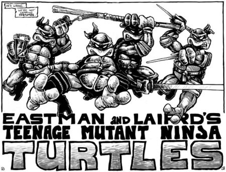 TMNT Tortues Ninja Pages 2-3 comics Mirage4