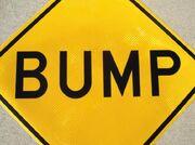 Bump sign W8-1 large