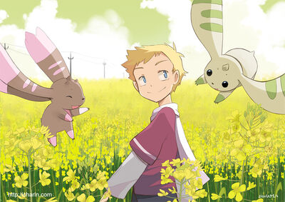 Field and digimon by charln-d7hycfs